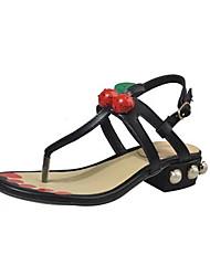 Women's Sandals Spring Summer Fall Comfort PU Dress Casual Low Heel Flower