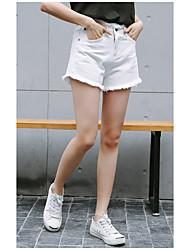 unterzeichnen Jeans-Shorts koreanische hohe Taille des weiblichen Sommers große Yards lösen ein Wort Grat Studenten breit Bein Shorts