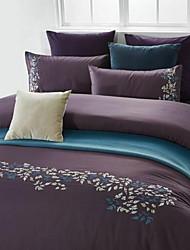 Satz von 4 Stück Baumwolle Bettwäschesteppdecke 200 * 230 250 * Bettuch pillowcase 250 48 * 74