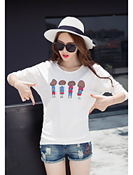 Sign 2017 autumn cartoon printed long-sleeved compassionate Korean version was thin loose fitted Students girlfriends sisters