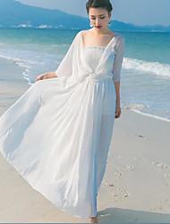 Signe de tempérament aristocratique soutien-gorge super cents halter robe en mousseline de soie robe de fée jupe station balnéaire