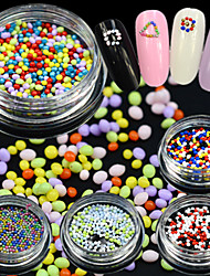 1Bottle Fashion Colorful Nail Art Caviar Decoration Lovely Round Caviar Nail Art DIY Design Cute Nail Beauty Decoration YZ01-15