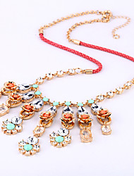 Women's Strands Necklaces Flower Chrome Personalized Euramerican Jewelry For Wedding Congratulations