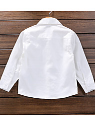 Casual/Daily Solid Shirt,Cotton Summer
