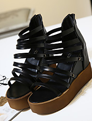 Women's Sandals Comfort PU Casual Wedge Heel
