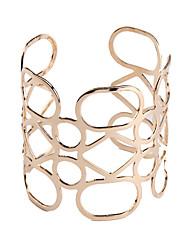 Femme Manchettes Bracelets Bijoux Mode Vintage Style Punk Gemme Alliage Forme Géométrique Bijoux Pour Occasion spéciale