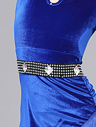 Latin Dance Belt Girls´ Performance Viscose Crystals/Rhinestones 1 Piece Belt