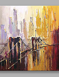 IARTS Hand Painted Modern Abstract Landscape Oil Painting Bridge in The City Wall Art For Home Decor
