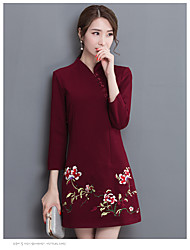Wedding dress mother dress middle-aged women's autumn long-sleeved embroidered women dress