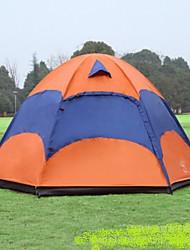 3-4 Personen Doppel Einzimmer Camping ZeltWandern Camping Reisen-Orange