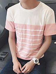 Nouveaux hommes&T-shirt rayé à manches courtes coton élastique Aberdeen 95% spandex 5%