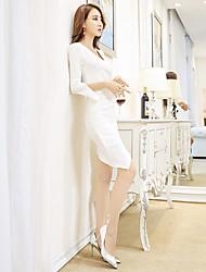 подписать весной и летом новый корейский моде дамы темперамент ночного клуба сексуальный пакет бедра платье платье прилива
