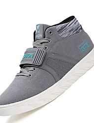 Da uomo-Sneakers-Casual-pattini delle coppie-Piatto-Scamosciato-Nero Grigio Blu
