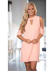 Les femmes de souhaits EBay taille mode chaud était bustier mince robe à manches courtes