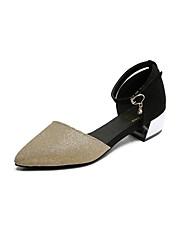 Women's Loafers & Slip-Ons Spring Summer Comfort PU Outdoor Office & Career Casual Low Heel Chain Walking