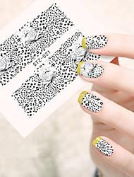 5pcs/set Sexy Leopard Design Fashion Leopard Image Nail Art Water Transfer Decals STZ-021