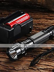 Luci Torce LED Torce LED 1200 Lumens 5 Modo Cree XM-L U2 18650 Messa a fuoco regolabileCampeggio/Escursionismo/Speleologia Uso quotidiano