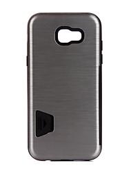Pour Porte Carte Antichoc Coque Coque Arrière Coque Couleur Pleine Dur Métal pour Samsung A3 (2017) A5 (2017) A7 (2017)