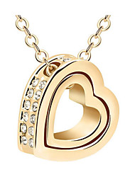 Women's Pendant Necklaces Jewelry Heart Chrome Cute Style Jewelry For Thank You Gift Daily 1pc