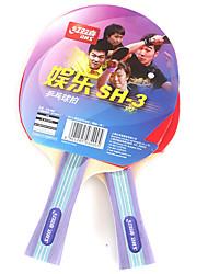 2 Звезды Ping Pang/Настольный теннис Ракетки Ping Pang дерево Длинная рукоятка Перевернутые Прыщи 2 Ракетка