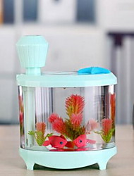 lampe réservoir poisson usb humidificateur décoration maison lampe aquarium atomiseur aquarium coloré lumières de purification lumineux