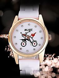 Women's Fashion Watch Quartz Ceramic Rose Gold Plated Band Casual Black White