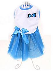 Chien Robe Vêtements pour Chien Eté Princesse Mignon Décontracté / Quotidien Jaune Rouge Bleu Vert foncé