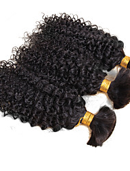 3 Bundles Brazilian Afro Kinky Curly Hair Bulk 8A Brazilian Virgin Hair Human Kinky Curly Braiding Hair Bulk