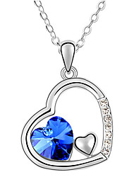 Women's Pendant Necklaces Crystal Heart Chrome Unique Design Jewelry For Daily