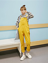 Large spot real shot 2017 Korean version was thin loose harem pants overalls piece pants feet long section