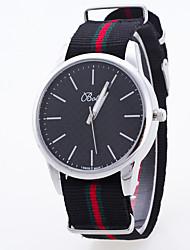 Women's Sport Watch Dress Watch Fashion Watch Wrist watch Large Dial Quartz Fabric Band Charm Multi-Colored