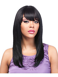 Synthetic Wig Cheap Wigs Black Color Straight Wigs For Women