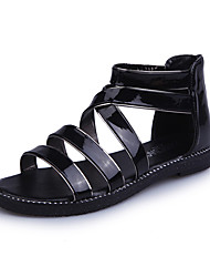 Women's Sandals Spring Summer Comfort PU Casual Low Heel Sparkling Glitter
