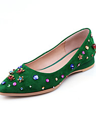 Women's Flats Summer Fall Comfort Light Soles Cashmere Office & Career Dress Casual Flat Heel Rhinestone Flower