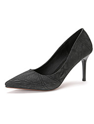 Damen-High Heels-Kleid-Wildleder-Stöckelabsatz-Komfort-Schwarz Grün Kamel
