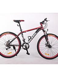 Geländerad Radsport 21 Geschwindigkeit 26 Zoll/700CC BB8 Doppelte Scheibenbremsen Federgabel Ohne Dämpfung gewöhnlich Aluminium Stahl
