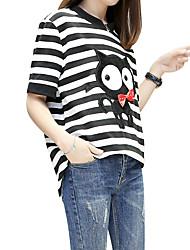 2017 versão coreana do novo hedging camisa solta moda cartoon selvagem quinta camisola manga colarinho alto feminino