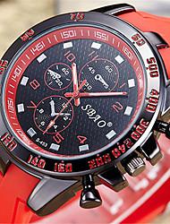 Men's Fashion Watch Digital Watch Quartz Digital PU Band Casual Black White Blue Red Orange Green