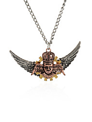 Wing Gear Steampunk Necklace Vintage Gothic Jewelry-King Wing
