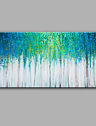 Hand-Painted Abstract Green Forest Oil painting Ready To Hang Modern One Panels Canvas Oil Painting For Home Decoration