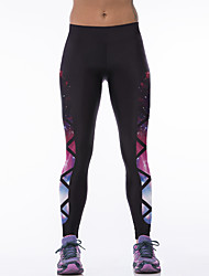 Women's Sporty Look Fashion Galaxy Print Sports Tights Pants Breathable Quick Dry Compression Stretch Spring/Summer Fitness Running Leggings