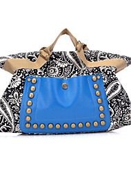 Women Bags All Seasons Canvas Tote with Rivet for Event/Party Casual Outdoor Gray