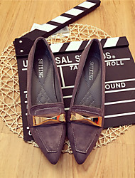 Damen-High Heels-Lässig-Wildleder-Blockabsatz-Komfort-Schwarz Grau