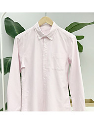 Men's Going out Casual/Daily Simple Shirt,Striped Shirt Collar Long Sleeve Rayon