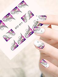 5pcs/set Sweet Design Nail Art Water Transfer Decals Beautiful Flower Vine Nail Beauty Sticker Beautiful Image Design STZ-011