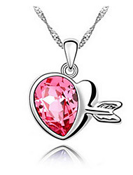 Women's Pendant Necklaces Crystal Chrome Love Euramerican Fashion Jewelry For Wedding Party Birthday Congratulations 1pc