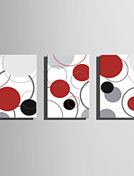 Stretched Canvas Art Abstract Colorful Circles Set of 3