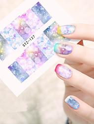 10pcs/set Adesivos para Manicure Artística Decalques de transferência de água maquiagem Cosméticos Designs para Manicure