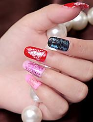 5 pc faux ongles diy imperméable belle ornement en dentelle Appliqué