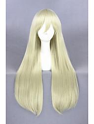 longa reta barco combates peruca shimakaze ouro luz 32inch sintética anime cosplay peruca cs-248a